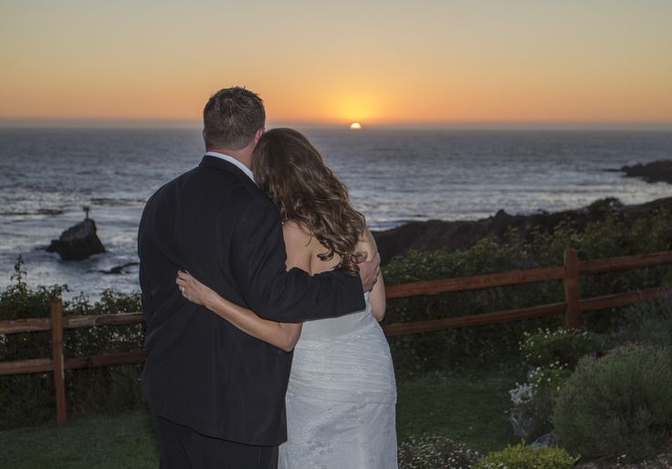 Picture perfect sunset on their wedding day.