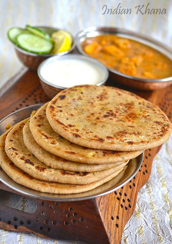 Aloo Gobi Paratha or Potato Cauliflower Stuffed flat breads ..works for breakfast, lunch, dinner or lunch box ...