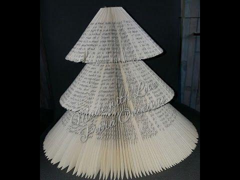 Weihnachtsbaum aus einem Buch schneiden und falten 21 10 2015 - YouTube