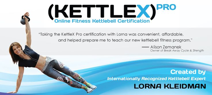 Kettlebell workouts, training, videos/DVDs, and now professional online kettlebell certification are brought to you by Lorna Kleidman.