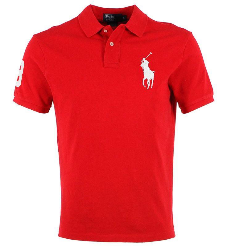 Polo Ralph Lauren rouge logo blanc