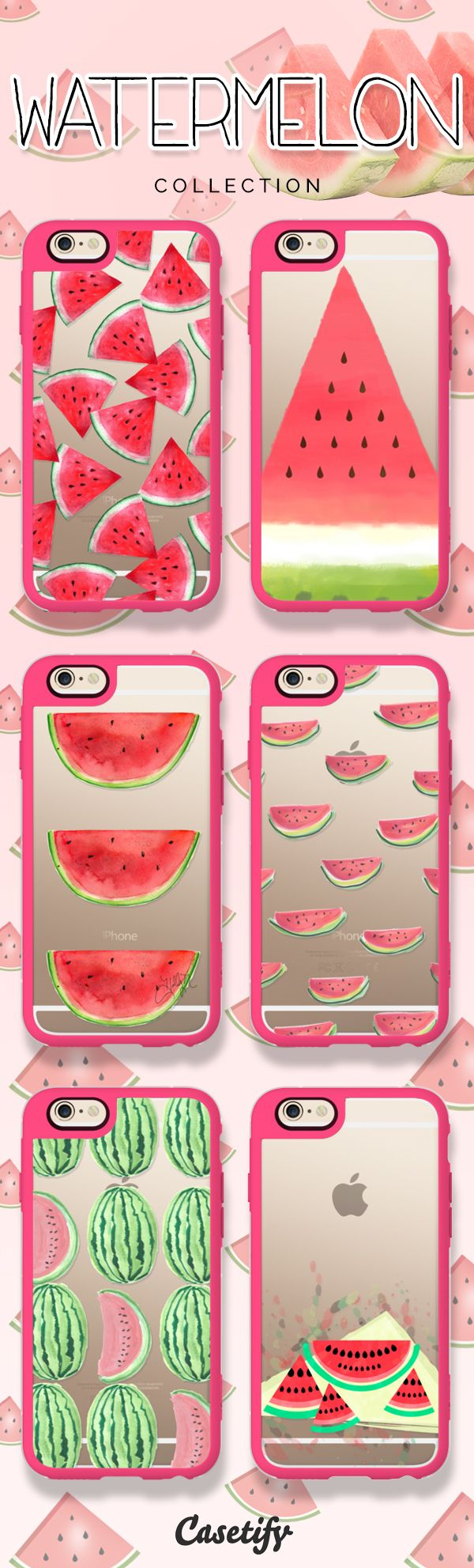 Don't let the seeds stop you from enjoying the watermelon. Take a look at these cases featuring watermelons on our site now! https://www.casetify.com/artworks/KLKjFrlyfI | @casetify