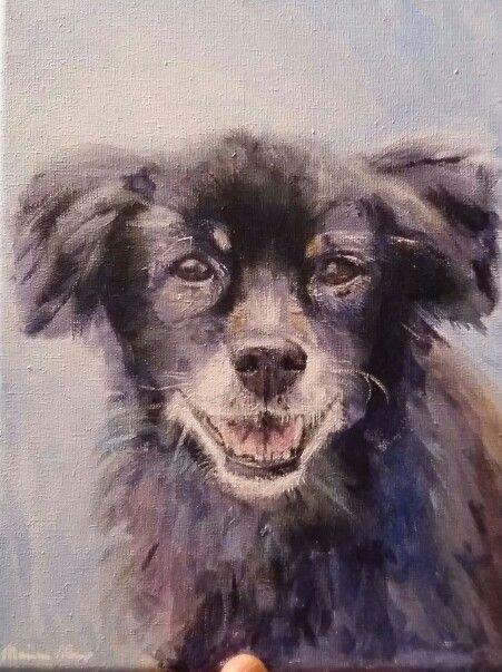 Odi, acryl op canvas geschilderd door Marian Plomp