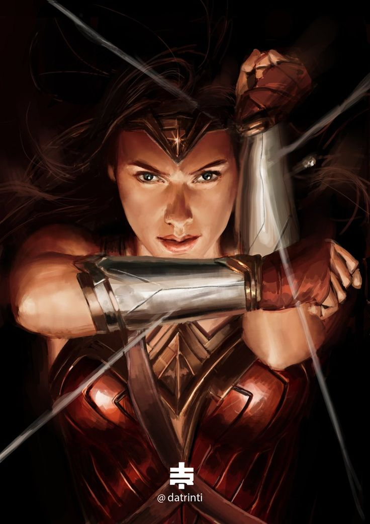 Deflecting bullets- Wonder Woman