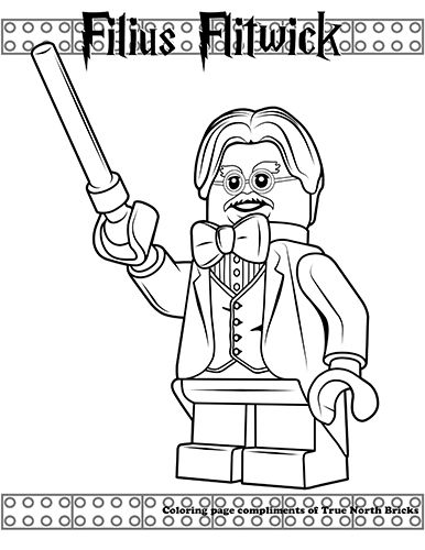 Coloring Page Filius Flitwick Harry Potter Coloring Pages