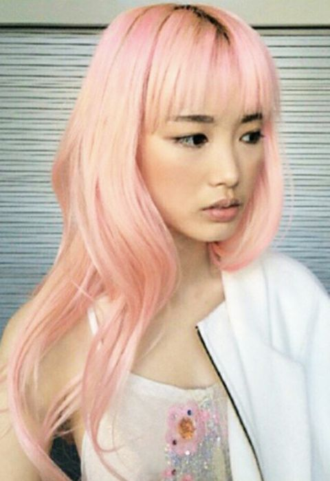 Model Fernanda Ly has the prettiest candyfloss hair we've ever seen! More super-cute hairstyles here: