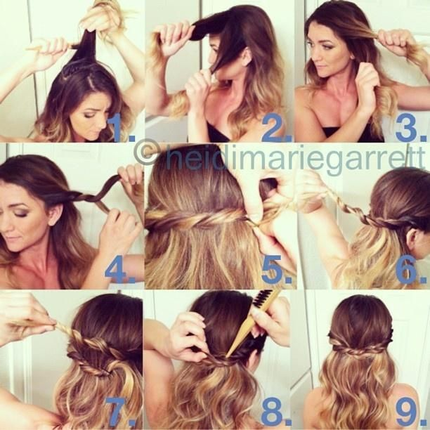 Hairstyle Tutorials knotted braided hairstyle tutorial Find This Pin And More On Hair Tutorials By Longhairstyles