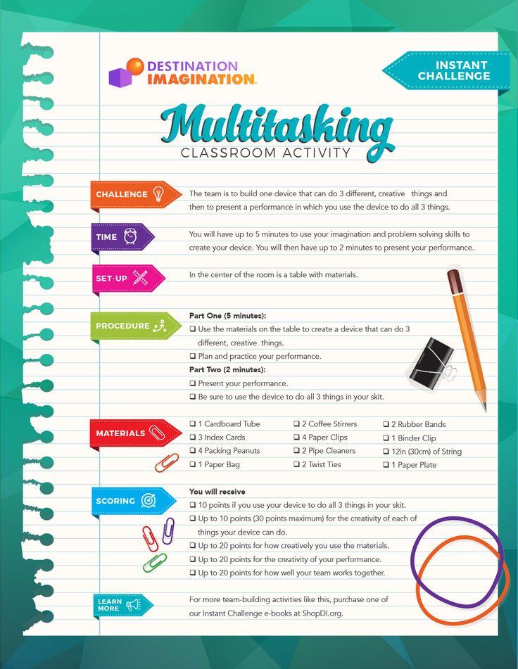 Destination Imagination--Free team building activities, challenge activities