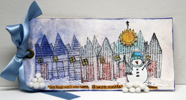 "Lynne's Art World: A One of a Kind TAG Using the ""One Of A Kind Winter"" Stamp from Susan K. Weckesser"