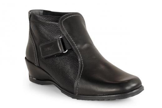 Otros Calzado Botin Cuña Velcro Negro De Suave