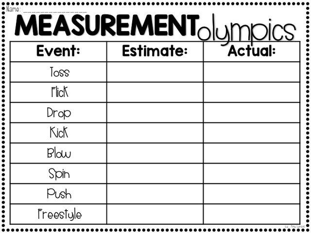 Measurement Olympics 2015 | Step into 2nd Grade with Mrs. Lemons | Bloglovin'