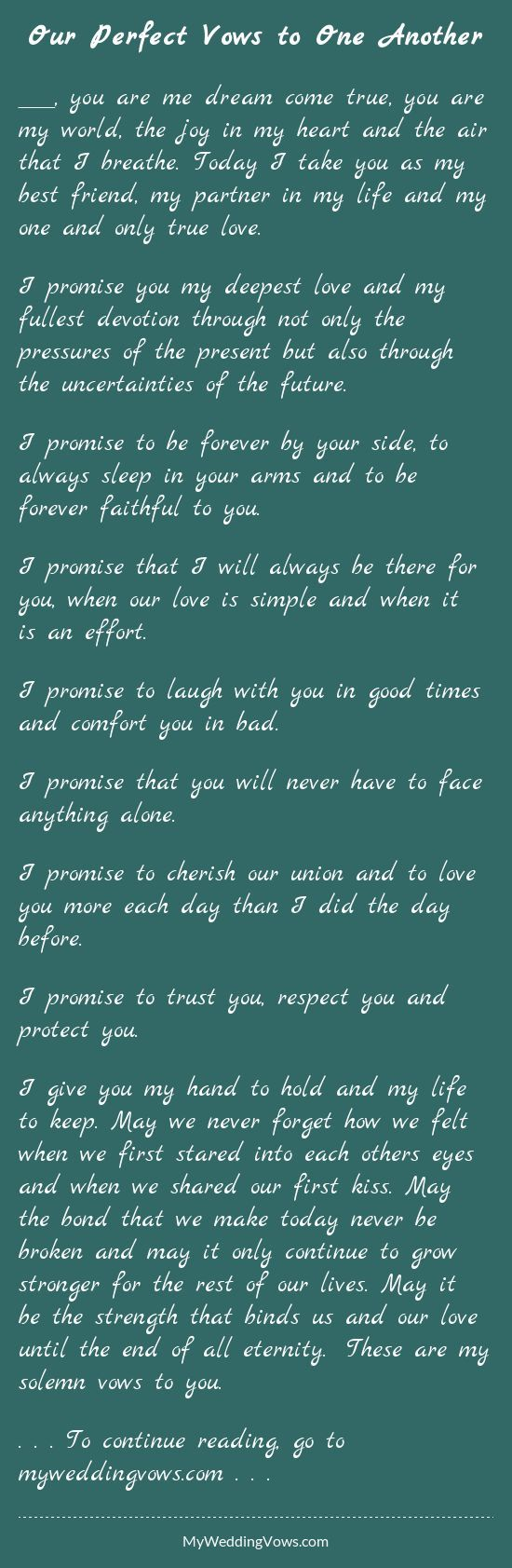 56 best vows images on Pinterest | Casamento, Weddings and Love