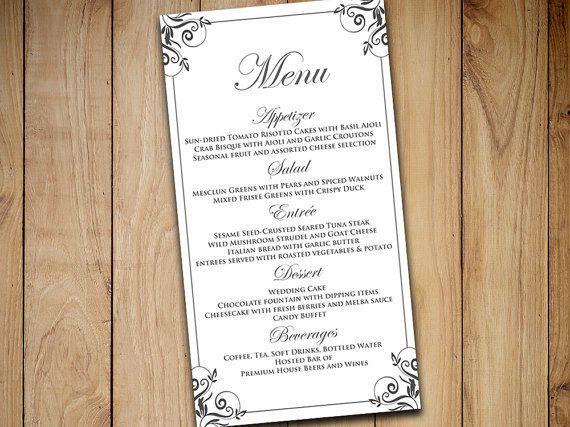 Best 25+ Wedding menu template ideas on Pinterest Wedding dinner - sample wine menu template