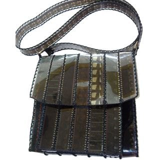 Handbag made from recycled movie negatives!