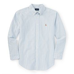 Striped Cotton Oxford Shirt - Boys 8-20 Sport Shirts - RalphLauren.com