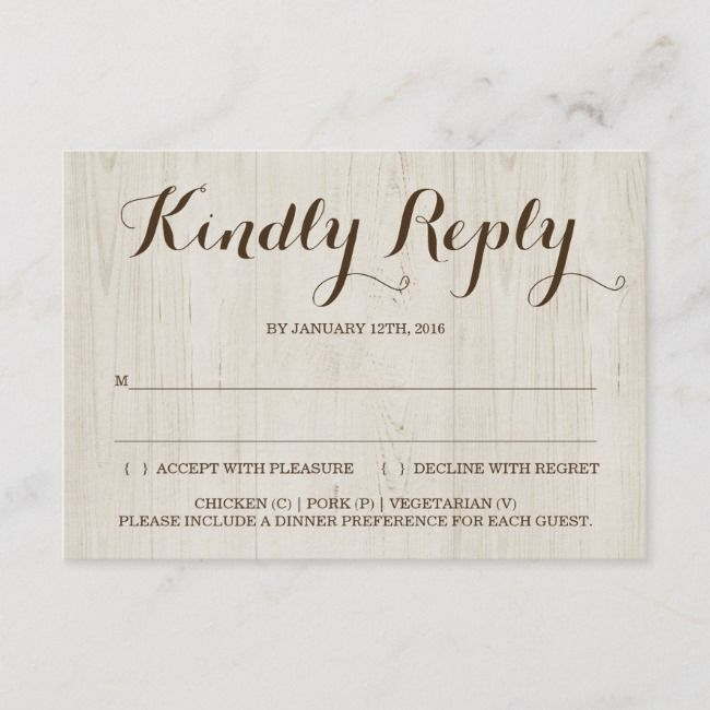 Rustic Invitation Reply Card Insert Zazzle Com Rustic