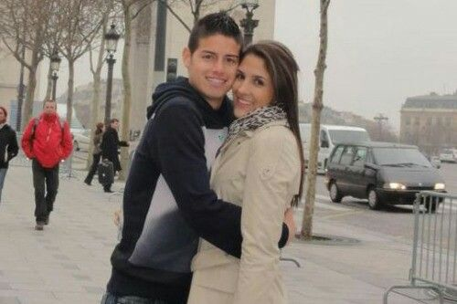Daninela ospina and James rodriguez