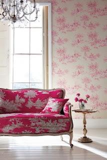 i heart toilePinkroom, Pink Sofa, Couch, Pattern, Set, Living Room, Hot Pink, Pink Room, Design Home