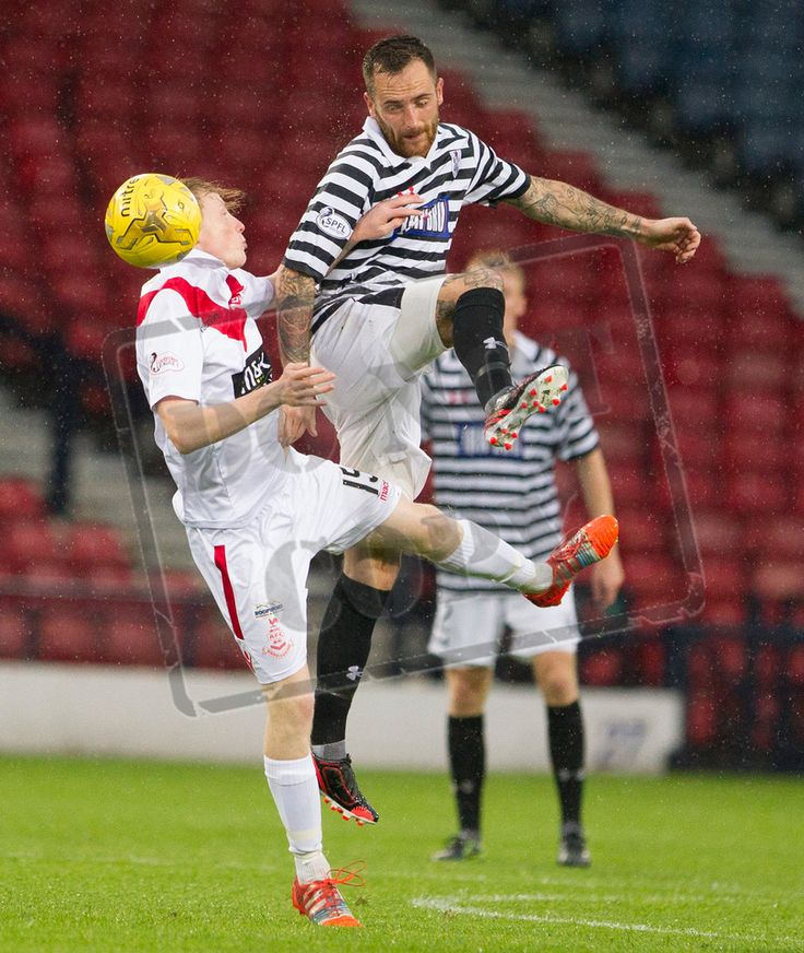 Queen's Park's Darren Miller on the ball during the Betfred Cup game between Queen's Park and Airdrieonians.