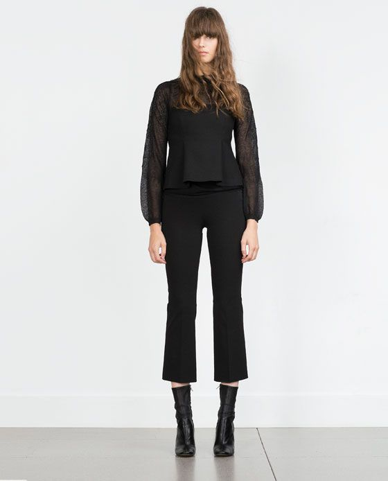 ZARA - NEW IN - ROMANTIC EMBROIDERED SWEATER