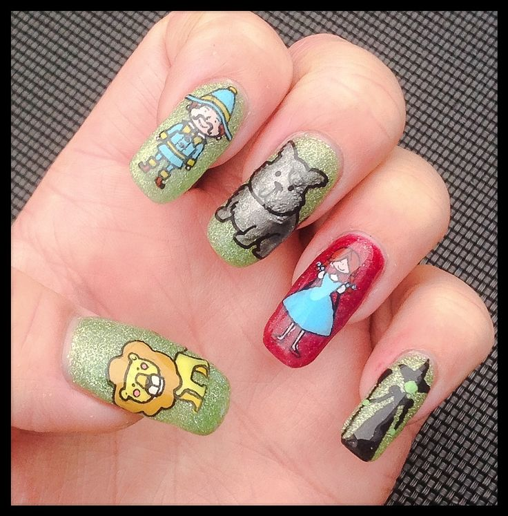 """Wizard Of Oz"" inspired Nail Art by ""Lorena Style""."