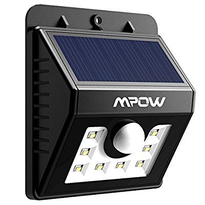 Mpow Solar Lights Motion Sensor Security Lights 3-in-1 Waterproof Solar Powered Lights Outdoor Lights for Garden, Fence, Patio, Yard, Walkway, Driveway, Stairs, Outside Wall etc. (3 Intelligient Modes, 8 LED)