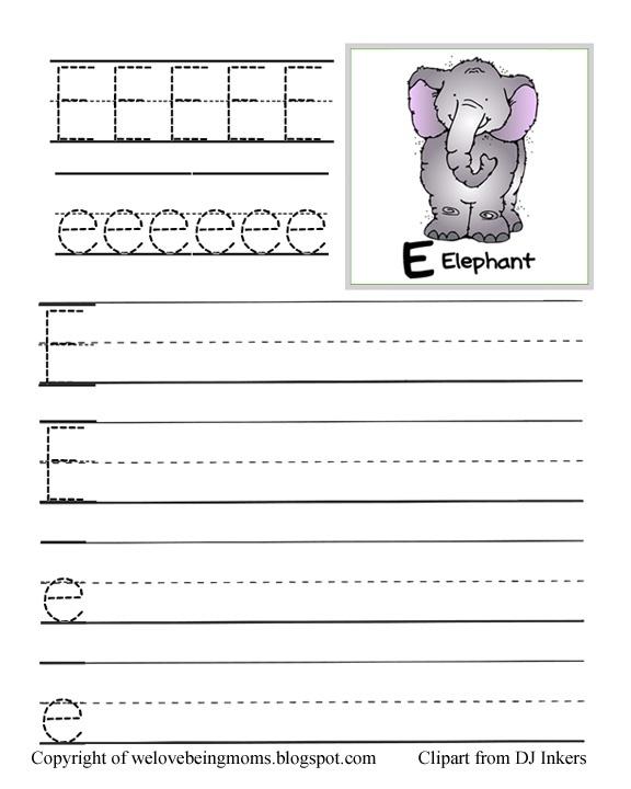 Number Names Worksheets : free printable letter e worksheets Free ...