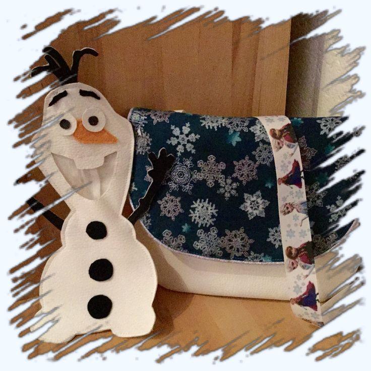 Trousse Olaf (inspiré de l'otarie de mavada) Sac reine des neiges (demoiselle en détresse de mavada)