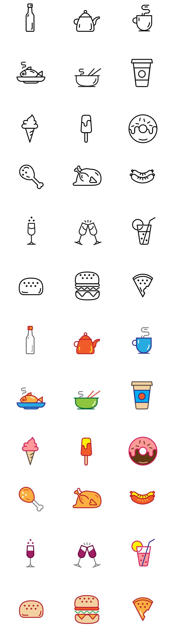 Free #Food #Vector #Icons