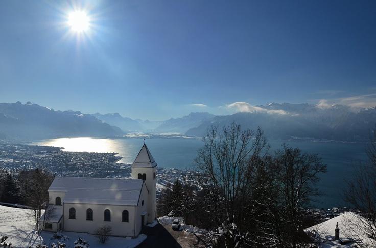 Photo prise le 10.02.2013 depuis le Mont Pèlerin   Jean Bovigny  http://www.24heures.ch/vaud-regions/meteo-joue-tours/story/27777249