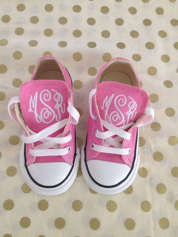 Baby/Toddler Monogram Converse on Etsy, $45.00