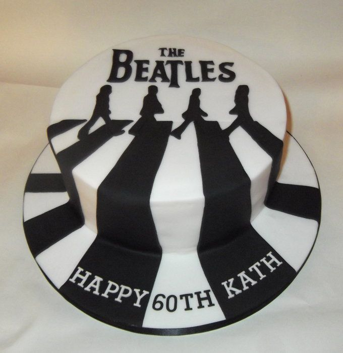 Beatles Abbey Road cake - by essexflourpower @ CakesDecor.com - cake decorating website