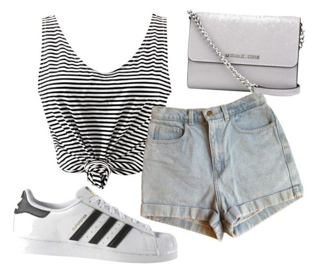 """""""Untitled #51"""" by kristyna-r on Polyvore featuring American Apparel, adidas and MICHAEL Michael Kors"""