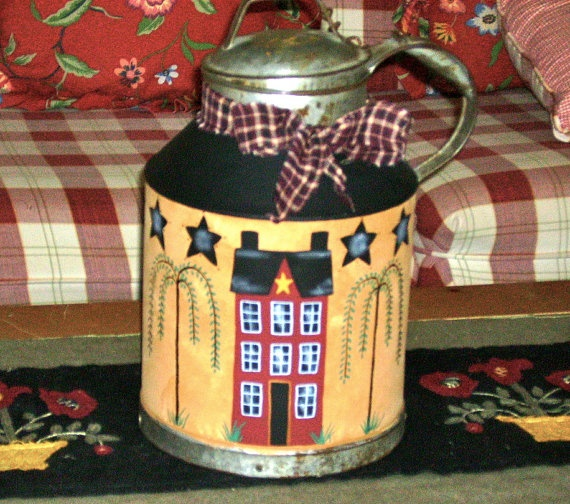 17 best images about milk cans on pinterest painting for Repurposed milk cans