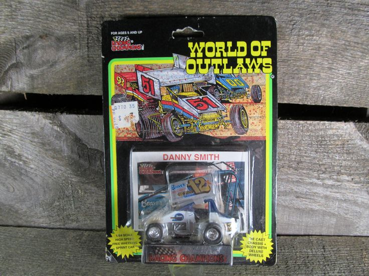 Danny Smith #12, Racing Champions, World Of Outlaws, Sprint Cars 1993, 1/64 Scale Die Cast Model Car, 1st Series, Collectible Toys by TheStorageChest on Etsy