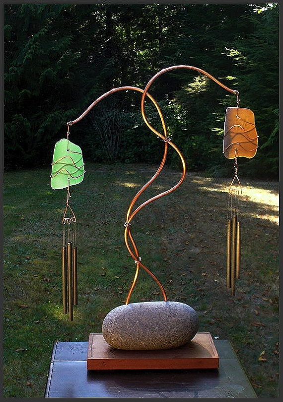 A unique windchime. It's simplicity is it's strength and the colours are stunning. This would be my favourite windchime