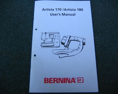 Instuctions Manual for a Bernina 170 180 Sewing Machine