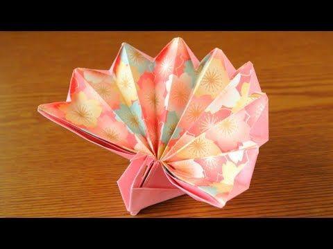 折り紙 祝い鶴・正月鶴 Origami Celebration Crane instructinos - YouTube