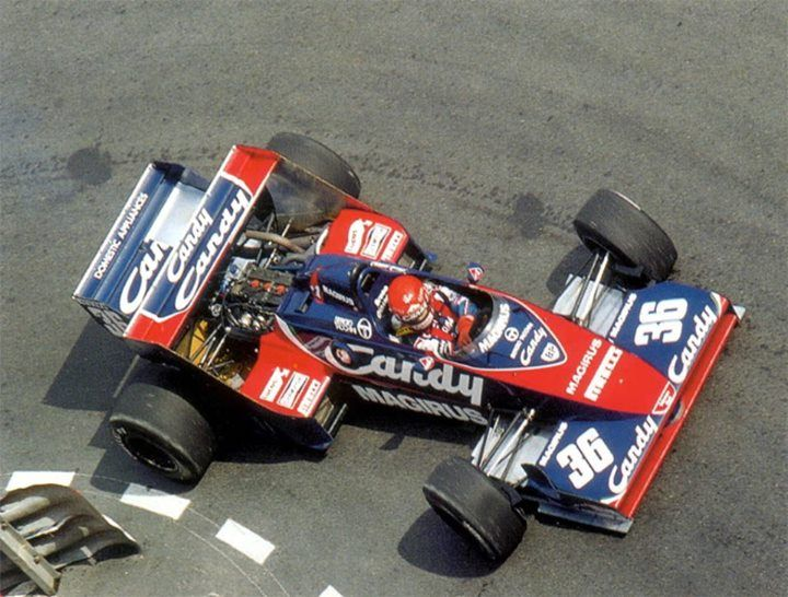 f1 bruno giacomelli toleman tg183b 1983 monaco gp 0 formula 1 legend pinterest. Black Bedroom Furniture Sets. Home Design Ideas