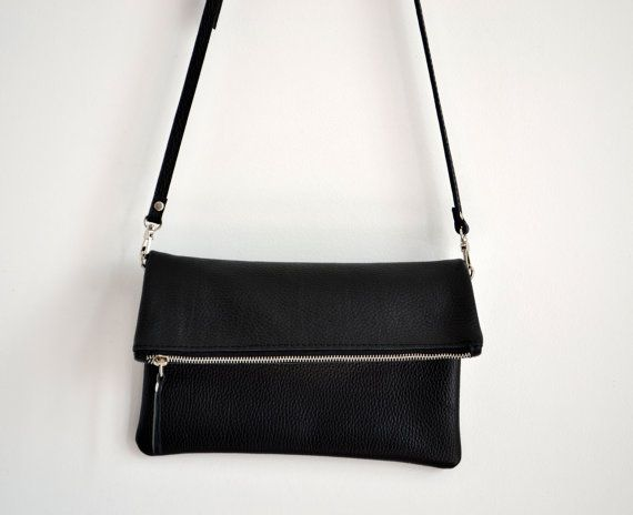 Black LEATHER CLUTCH IPad Case  Italian Leather Clutch  Long