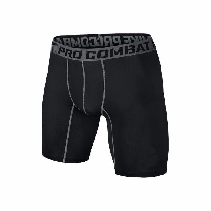S-XXL pantaloncini PRO Breve Uomo Slim Equipaggiata compressione pantaloncini Attivi Pantaloni Sportivi Bodybuilding Combattimento Dry Leggings uomini pantaloni corti
