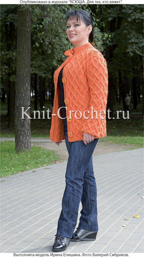 женский жакет размера 48 50 связанный на спицах разные модели
