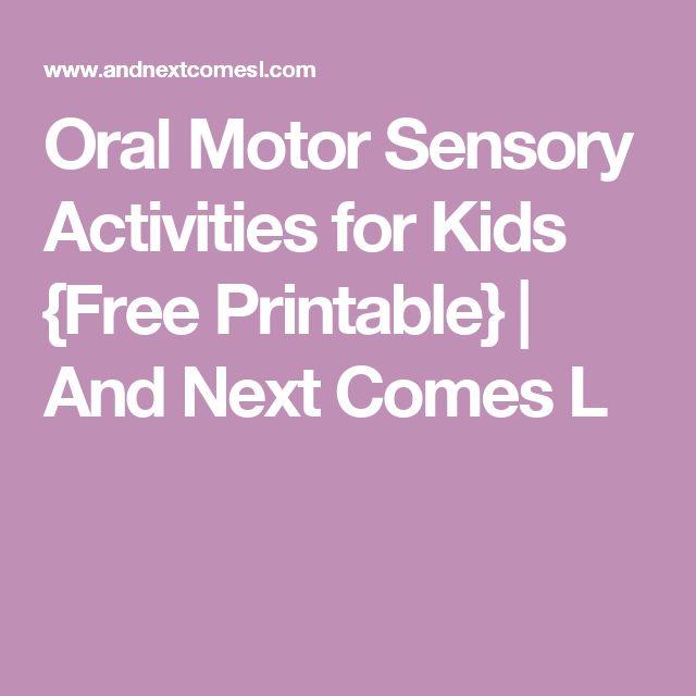 Best 25 Oral Motor Activities Ideas On Pinterest