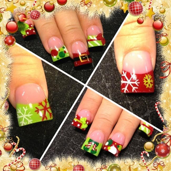 Xmas nails - Nail Art Gallery