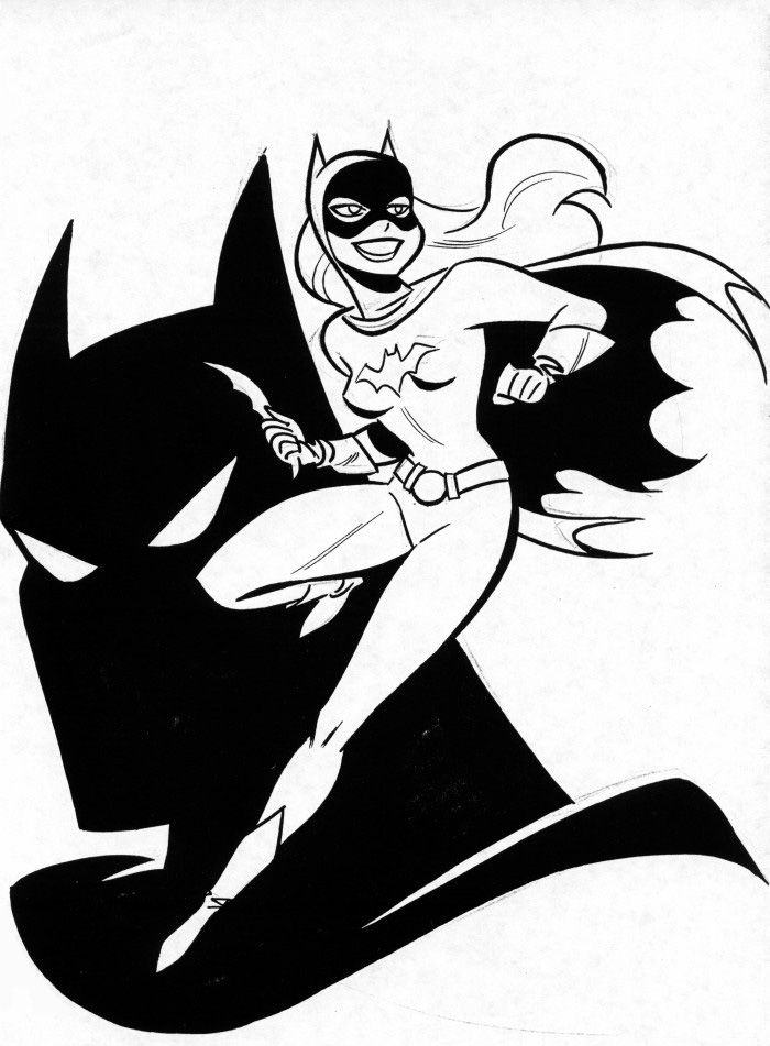 Batgirl and Batman by Bruce Timm