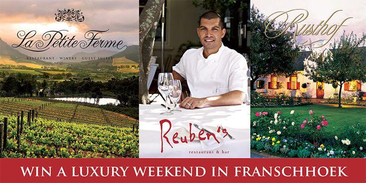 Win a Luxury Weekend in Franschhoek!! www.skip4life.com