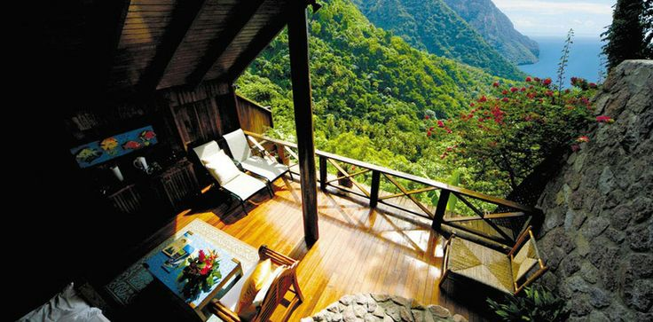 Imagine waking up to this view. Ladera Resort, St. Lucia.