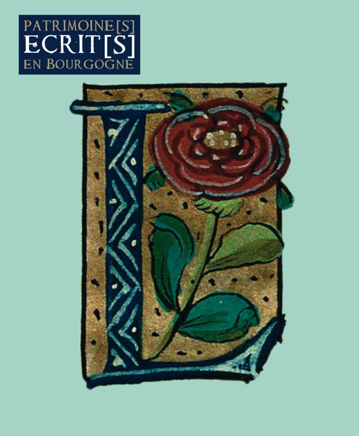 Initiale L. Vie de saint Edmond de Canterbury, XVIe siècle, manuscrit 92, folio 2. Collection bibliothèque municipale de Semur-en-Auxois. Cliché CNRS - IRHT