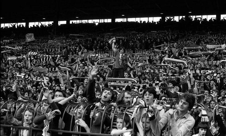 Stretford End at Old Trafford, Manchester United, 1980