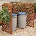 Lattice fence panels. I'd like this around my septic pipe with a little garden area in front of it.